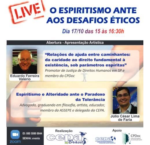 Live - O Espiritismo ante aos desafios éticos